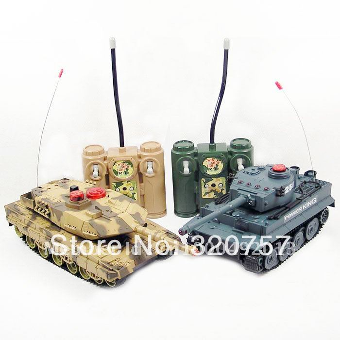 Newest RC Tanks HQ508-10 RC Battle Tank Set Two Infra-Red Laser Tank Remote Control Military Tanks RTR Toys(China (Mainland))