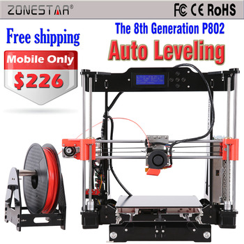Auto Leveling 3d printer The 8th Generation P802 Reprap Prusa i3 3d-printer DIY Kit 2 Roll Filament 8GB SD Card Free Shipping