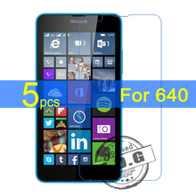 5pcs Ultra Clear LCD Screen Protector Film Cover For Microsoft Nokia Lumia 640 Protectiv Film  +  cloth
