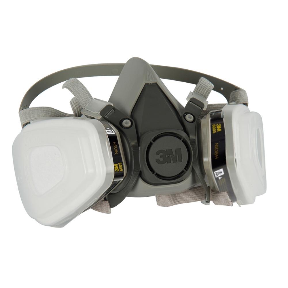Респиратор химический 3M6200 3M 6200 7pcs/6200 + 6005 3m 6200 6005 respirator gas mask genuine security 3m protective mask against formaldehyde organic vapor gasmaske