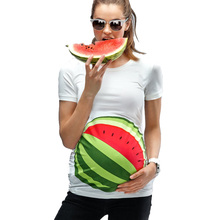 Summer Maternity Clothes For Pregnant Women Pregnancy Clothes 3D Printed T Shirt For Maternity Women Cute Mom Tops SC106(China (Mainland))