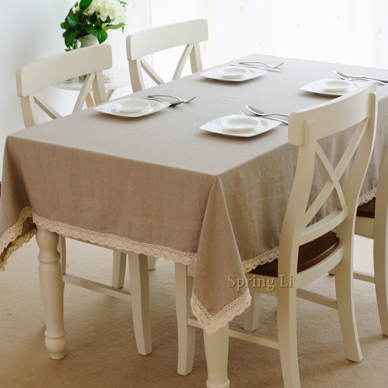 Minimalist Fashion Rectangle Linen Tablecloths European style Table Cover Multi size(China (Mainland))