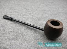 DLSSw Elegant Durable Ebony Wooden Tobacco Smoking Pipe Collection Gift Round Bottom Free Shipping 5pcs/lot 9011
