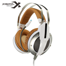 2016 XIBERIA X11 Over-ear Gaming Headset Earphone Headband Headphone with Mic Stereo Bass Music Breathing LED Light for PC Game(China (Mainland))