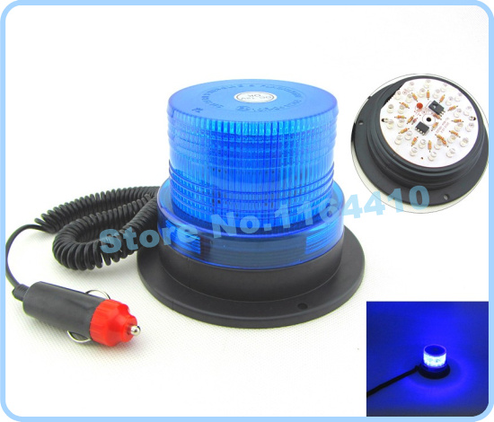 DC12V High power Car Truck Magnetic Mounted Warning flash beacon Strobe Emergency light Police lights lamp Blue Color(China (Mainland))