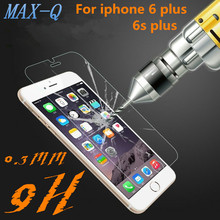 """0.3mm 2.5D HD Tempered Glass Screen Protector For Iphone 6plus 6S Plus 5.5 """"Ultra thin High Definition Film Free + cleaning kit"""