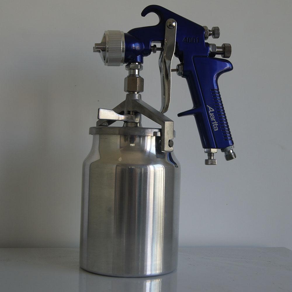 auarita high pressure gravity feed 1.7mm auto paint spray gun bottle air car paint nozzle<br><br>Aliexpress