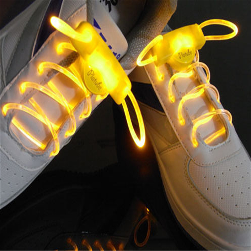 Hot LED elastic shoe laces Glow Stick Flashing led shoelaces one pair 2015(China (Mainland))