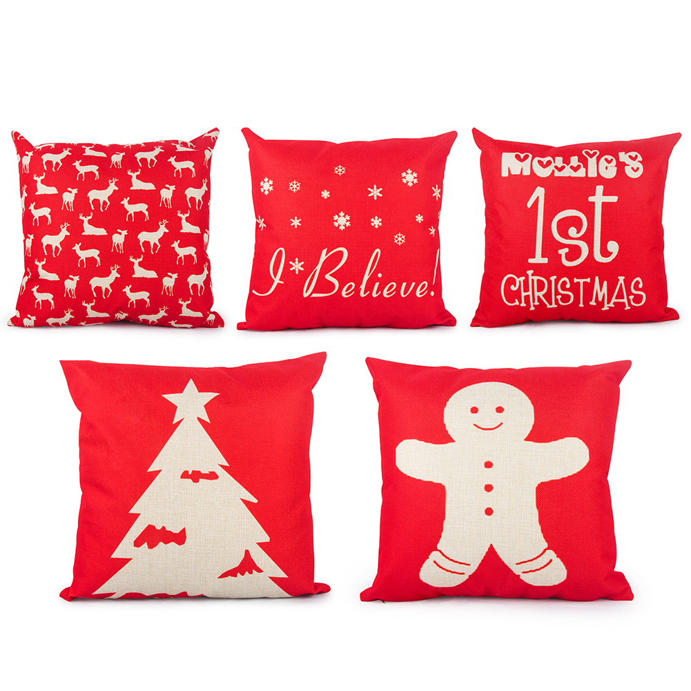 Brand New Christmas Design Cushion Covers Decorative Pillow Covers for Sofa Throw Pillow Cases Home decor Scandinavian(China (Mainland))