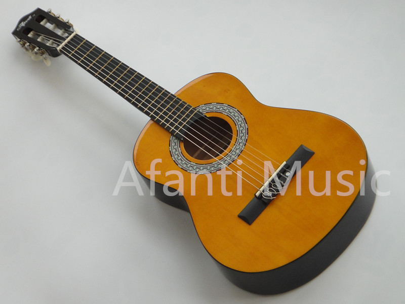 """Afanti Music Basswood Plywood Top 32"""" wood color finish Classical guitar (AFCG901)(China (Mainland))"""