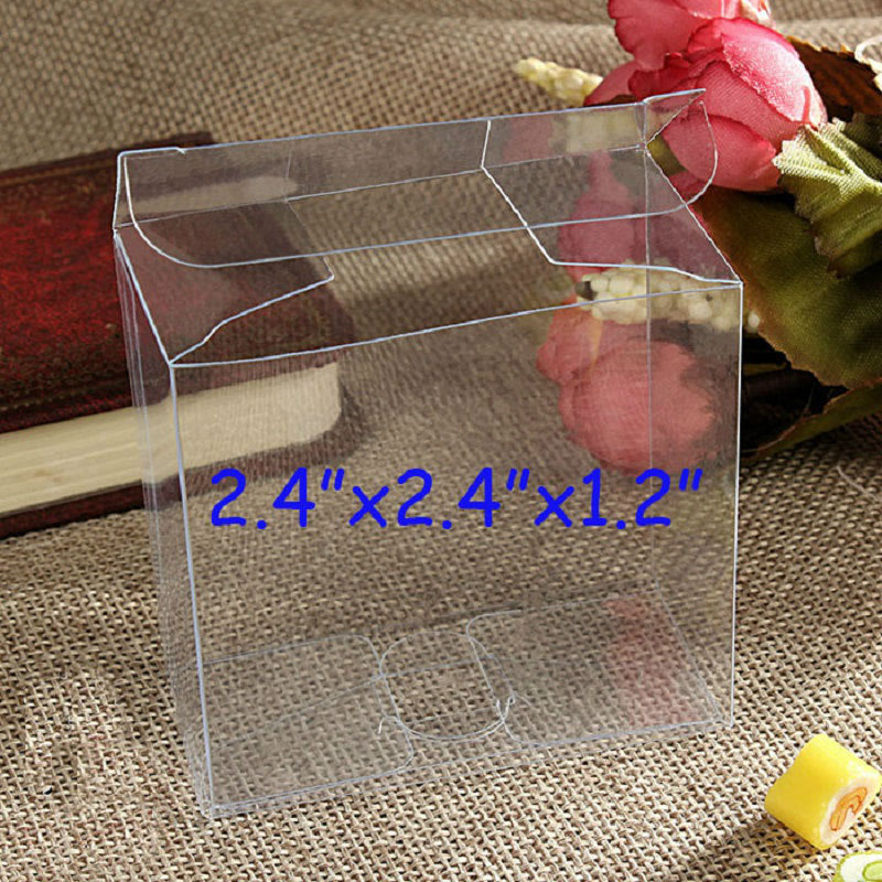 wholesale 6x6x3 cm Plastic Clear PVC Packaging Boxes rectangle cosmetic Perfume Gift Packing Boxes Free Shipping(China (Mainland))