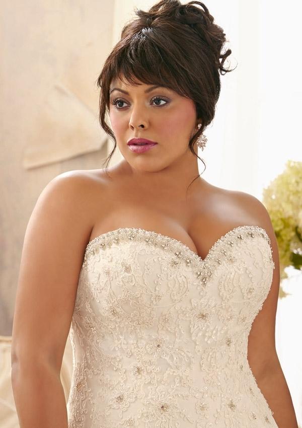 In Stock Applique Lace And Tulle Bandage Plus Size Wedding Dresses Beading Bridal Dresses vestido de