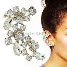 Hot 1PC New Fashion Earring Stud Crescent Shape Rhinestone Right Ear Cuff Clip Earrings Gold Silver Tone Women Jewelry - Mixlot Store store
