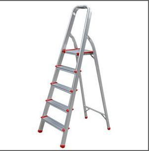 5 pasos de aluminio del hogar escaleras plegable escalera for Escalera 5 pasos afuera