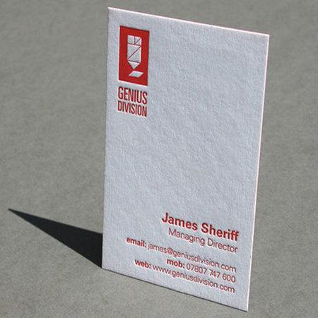 Free Shipping Custom Letterpress Business Cards e Side