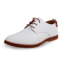 Vendita calda nuove scarpe oxford per gli uomini moda uomo scarpe in pelle primavera autunno uomo casual pelle verniciata piana scarpe da uomo WGL-K03-1(China (Mainland))