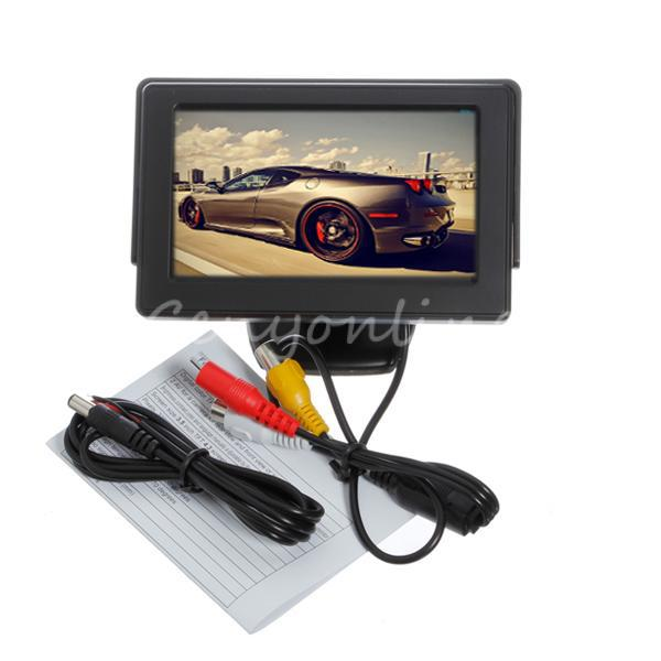 "High Quality New Universal 4.3"" Colorful TFT LCD CCTV Car Auto Rearview Backup Color Monitor Screen Reverse Camera Kit DVD VCR(China (Mainland))"