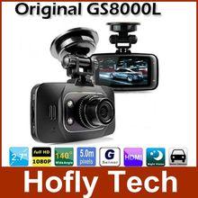 Оригинальный камера НОВАТЭК автомобилей Full HD DVR рекордер GS8000L автомобильный видеорегистратор 1080P 2.7inch ЖК поддержка G-сенсор HDMI России Бесплатная доставка