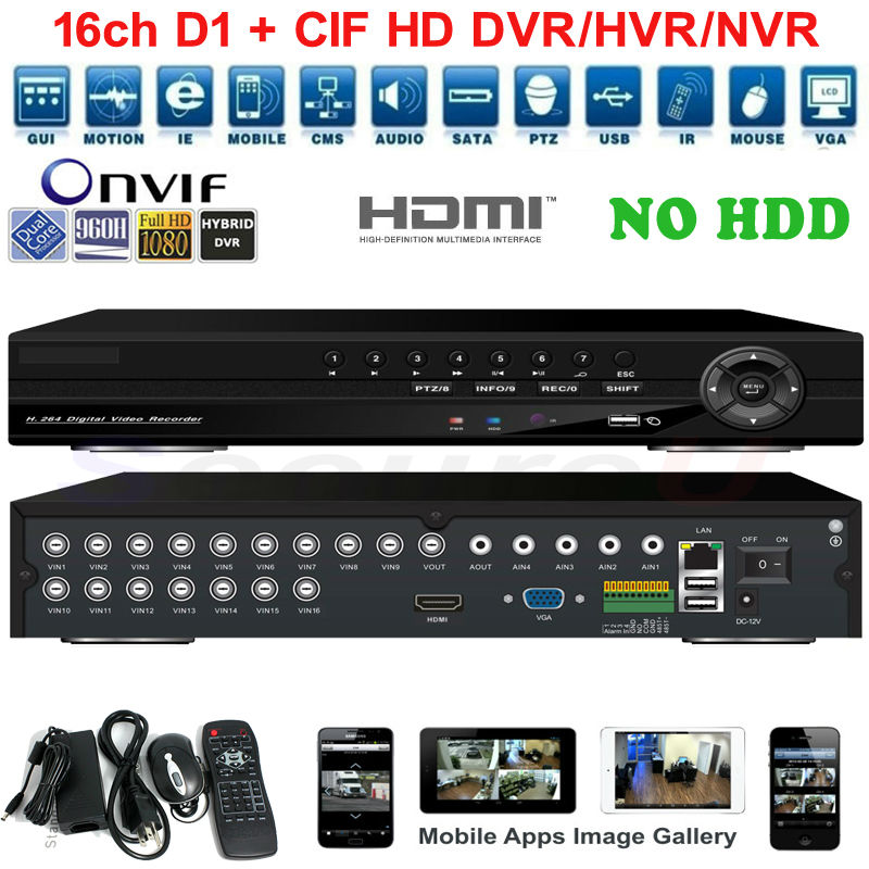 Best quality 16ch channel CCTV camera hd DVR security system 1080p 720p video recording WIFI 3G PTZ audio alarm DVR HVR NVR HDMI(China (Mainland))