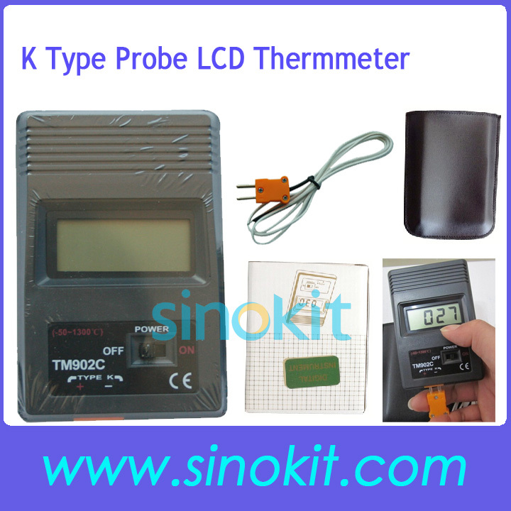 Free Shipping Digital LCD Thermometer Reader Meter Sensor K Type Probe TM 902C<br><br>Aliexpress