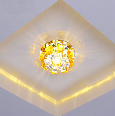 Fashion LED Diameter   K9 cystal  light AC 85-240V 3W LED Ceiling Lamps wall lights Free Shipping<br><br>Aliexpress