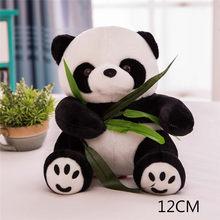 9-16 cm 1 peça tamanho grande Panda Boneca de Brinquedo de Pelúcia urso panda travesseiro boneca de pano do bebê brinquedos infantis presente de aniversário para Crianças do bebê(China)