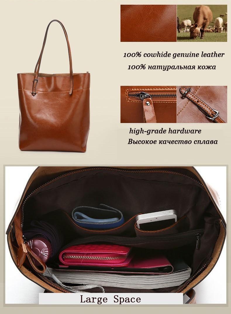 большой мешок женщин сумки натуральная кожа нефти воск воловьей кожи сумки леди натуральной кожи плеча мешки щедрой моды сумка