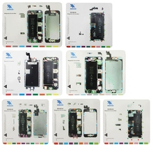 7 in 1 For iPhone 6s / 6 Plus / 6 / 5S / 5 / 4S / 4 Magnetic Screws Mat (China (Mainland))