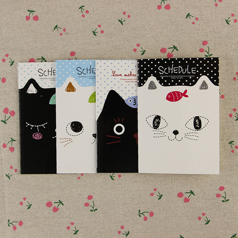 1pcs Korean Stationery Notebook Office Supplies School Creative Cartoon Cat Style Filofax Notepad Diary Students(China (Mainland))