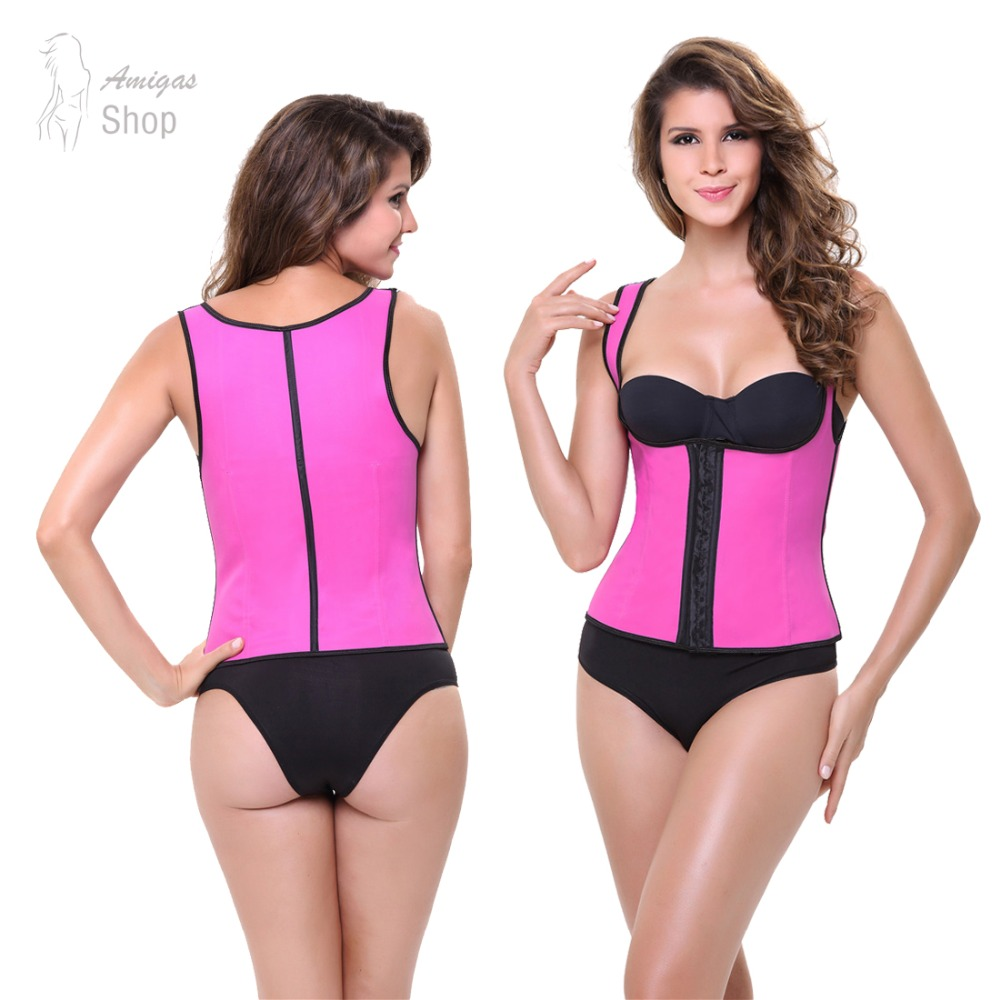 New Latex Vest Waist Cincher Chest Binder Body Shaper Corrector For Women Corset Slimming Plus Size Waist Training Corset Beauty(China (Mainland))