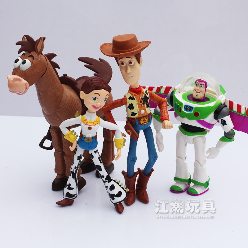 4pcs/set hot sales children gifts Collect showing furnishing articles Toy story woody buzz lightyear 4styles hands do pvc toys(China (Mainland))
