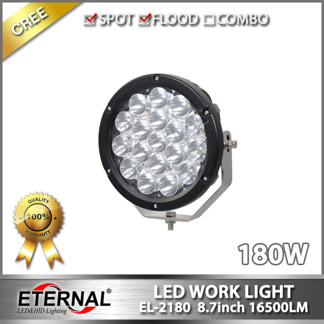 2pcs quality 180W led driving light spot lamp for 4x4 off road rubicon wrangler buggy heavy duty mining truck equipment(China (Mainland))