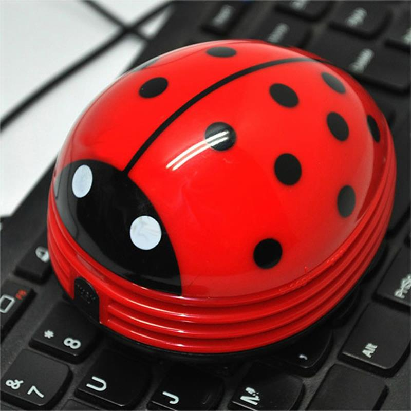 Mini Portable Keyboard Cleaner Robot Desktop Computer Clean Tool Dust Collector Electric Battery Operated Kawaii Beetle Cleaner(China (Mainland))