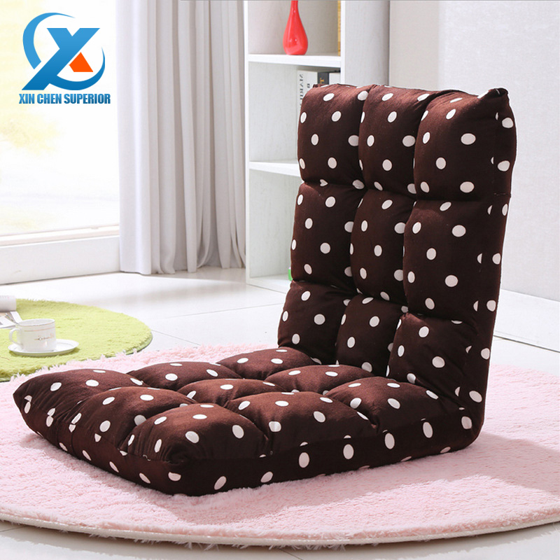 Foldable Fabric Lounger Sofa Chair Tatami Seat Cushion Adjustable Beanbag Lazy Sofa Bed Living Room Furniture Fast Shipping(China (Mainland))