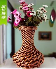 Liubian small basket crafts rattan flower pot vase home decoration(China (Mainland))