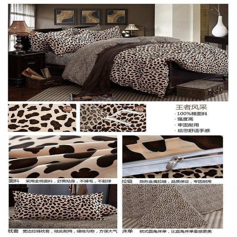 Imprim l opard housse de couette promotion achetez des for Housse de couette leopard rose