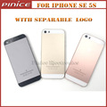 New Back Housing Cover For iPhone SE Rose Gold with Logo Separable Like Original Metal Middle