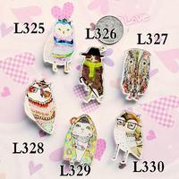 Kawaii Collar Tips Badge Cartoon Anime Owl Pin and Badge Jewelry Cheap Cool Kids Christmas Gift Acrylic Harajuku Brooch Pins