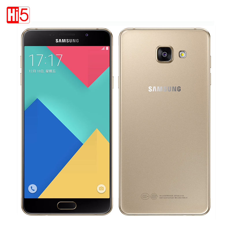 "New unlocked Samsung Galaxy A7 A7100 2016 3300mAh 3GB RAM 16GB ROM 13MP Dual Sim 5.5"" 4G LTE Octa-core Fingerprint Mobile phone(China (Mainland))"