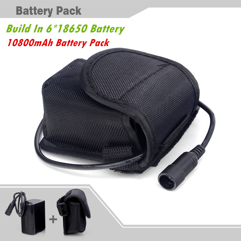 8.4v 10800mAh Li-ion 18650 Rechargeable Battery Pack For 2 in 1 CREE XM-L T6 P7 LED Bike Bicycle Lamp Light headlight & Headlamp(China (Mainland))