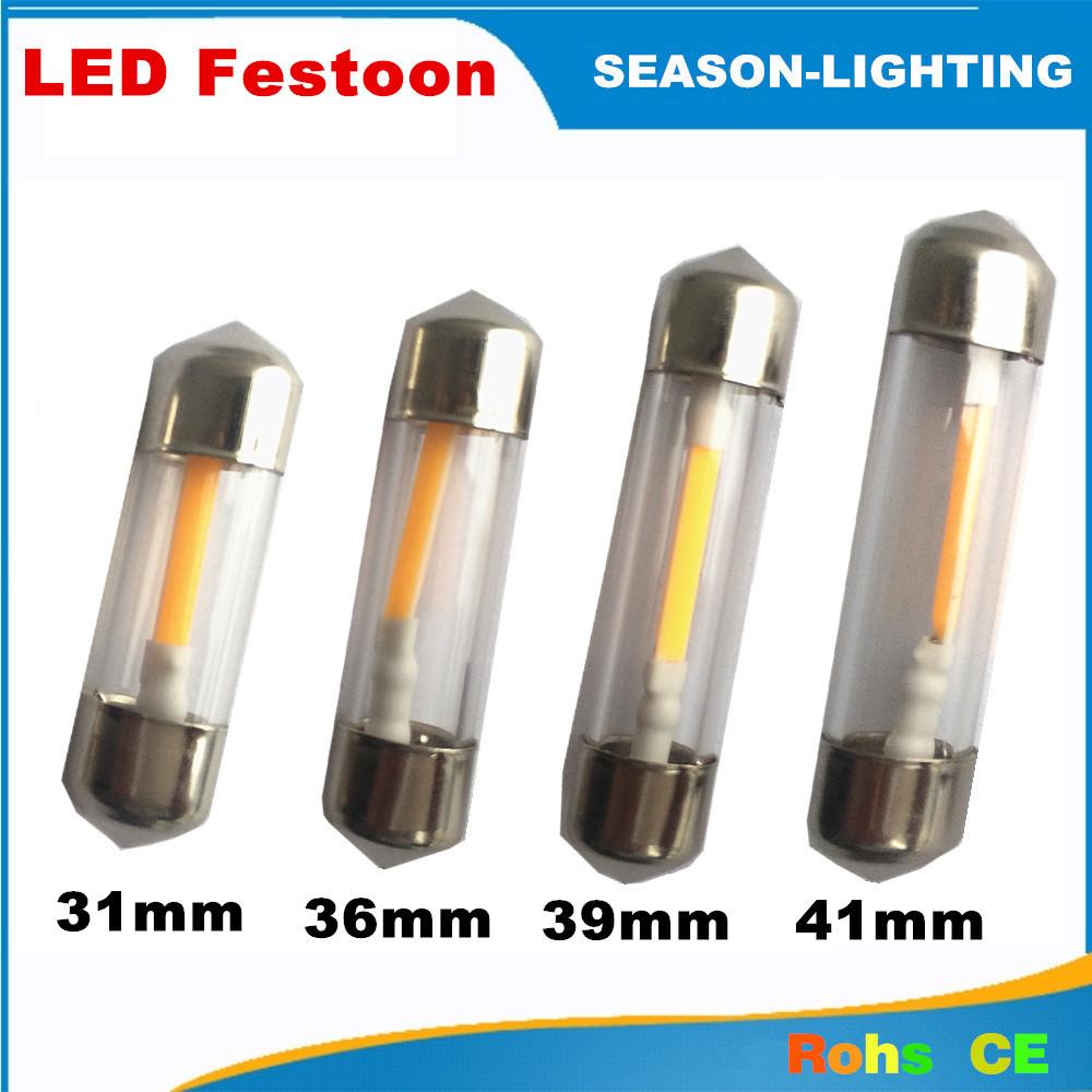 10X 1W Led Festoon Light 31mm 36mm 39mm 41mm C5W Car led festoon lamp DC 12V led light bulb for cars festoon reading light!(China (Mainland))