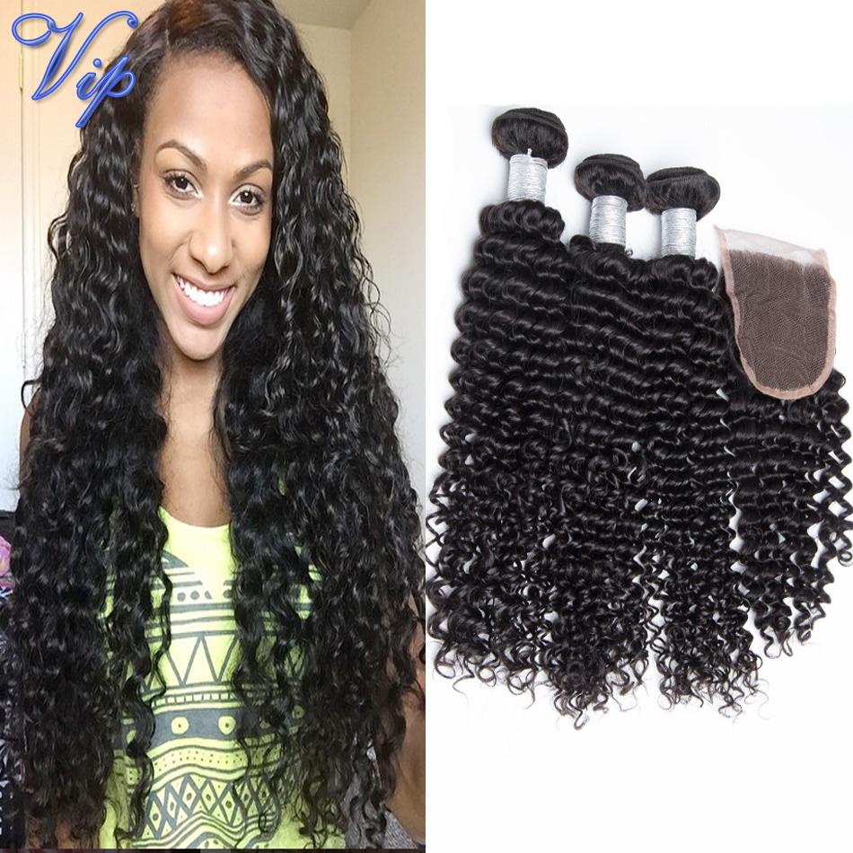 6A VIP Beauty Hair Brazilian Deep Curly Virgin Hair Bundles With Lace Closure 5PCS Brazilian Virgin Hair Deep Wave With Closure <br><br>Aliexpress