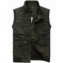 100% Cotton Denim New 2015 Autumn Spring Men Vest Casual Military Waistcoat Jacket Vests Brand Big Size L-4XL A2996(China (Mainland))