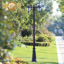 2 heads/3 heads Europe garden outdoor lighting poles black/bronze classical outdoor pole lamp 2M/2.5M/2.9M Aluminum AC 100-240V(China (Mainland))