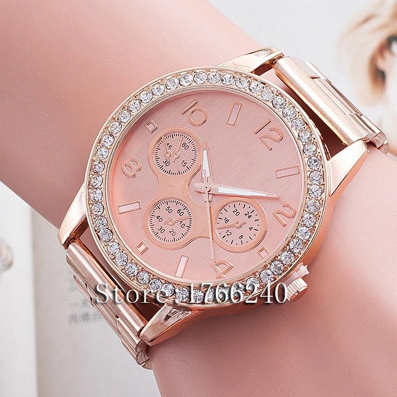 Гаджет  women wristwatch New Fashion Watch Gold Color women Watches 2015 Top Brand Luxury Ladies Watch Steel Women Dress Watches None Часы