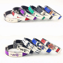 Five colors of the Olympic Movement wristband jewelry bracelet men silicone bracelet stainless steel pulsera SP001