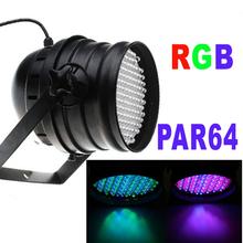 Professionale 151 led rgb 7 canale par 64 dmx 512 dmx512 proiettore laser dj party discoteca luce della fase di trasporto libero(China (Mainland))