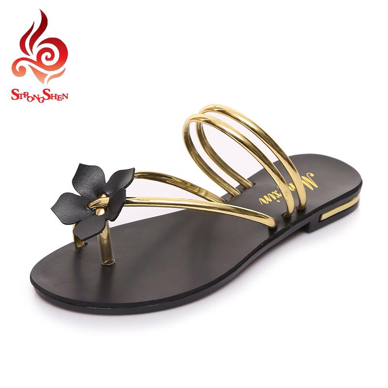Wonderful New Women Sandals 2016 String Bead Shoes Women Summer Sandals Flats