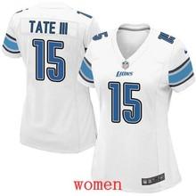 100% Elite men Detroit Lions WOMEN YOUTH KIDS FAST SHIPPING WHOLESALE 15 Golden Tate(China (Mainland))