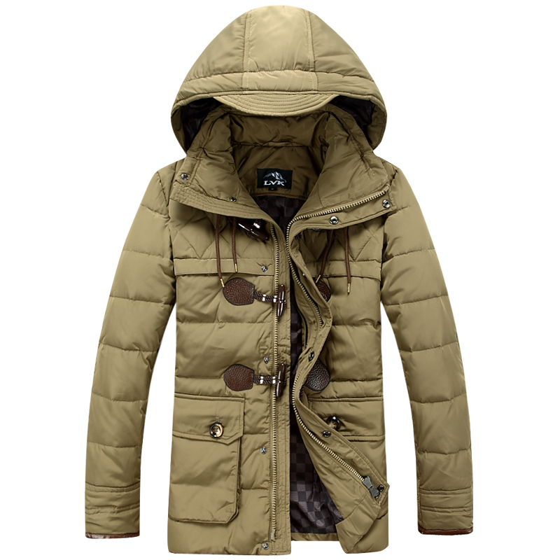 2015 men s clothing down coat male casual slim medium long thickening down coat winter clothes